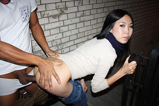 Public asian anal