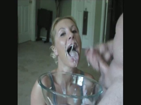 Thank for homemade sperm swallowing