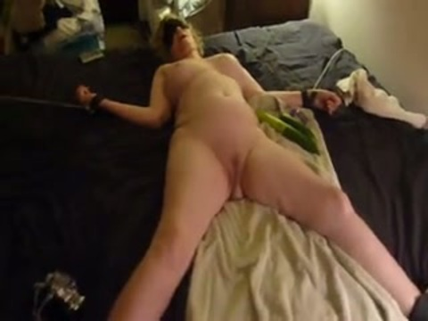 Milf with blindfold on