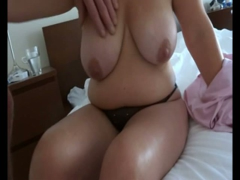 Sexy pair of female nude tits gif