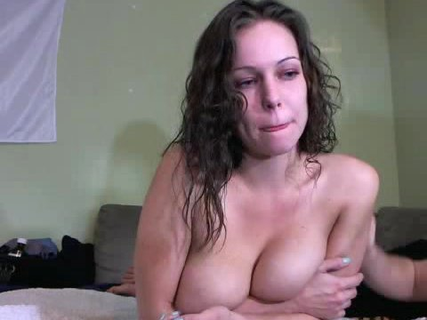 Curly haired brunette fuck